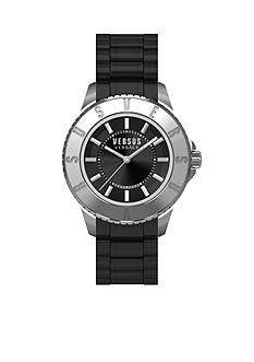VERSUS VERSACE Men's Stainless Steel Black Dial Watch