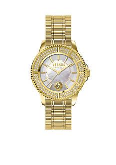 VERSUS VERSACE Women's Gold-Tone Crystal Watch