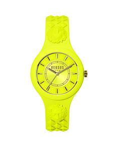 VERSUS VERSACE Women's Yellow Silicone Watch