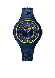 VERSUS VERSACE Fire Island Blue Silicone Watch