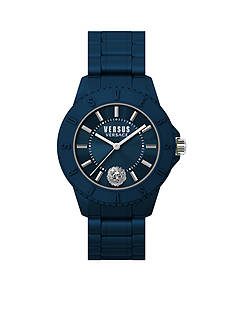 VERSUS VERSACE Men's Blue Silicone Watch