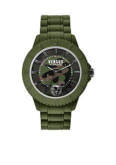 VERSUS VERSACE Tokyo Rubber Camo Green Silicone Watch