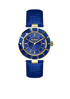 VERSUS VERSACE Women's Blue Gold-Tone Watch