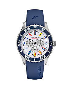 Nautica Men's Blue NST 07 Flags Multi-function Watch