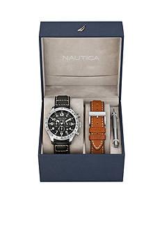Nautica Men's BFD 101 Chronograph Watch Box Set