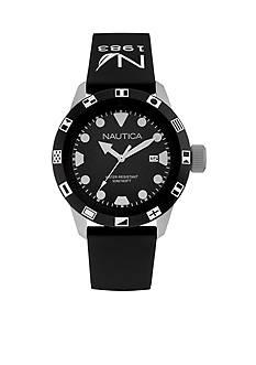 Nautica Men's Black Silicon Strap