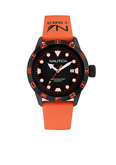 Nautica Men's NSR 100 Orange Watch
