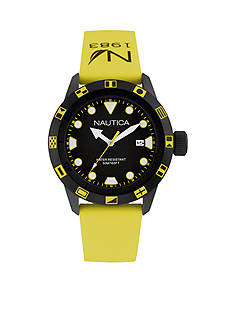 Nautica Men's NSR 100 Yellow Flag Watch