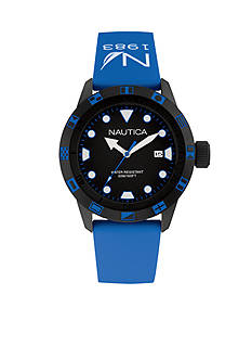 Nautica Men's Blue and Black Watch