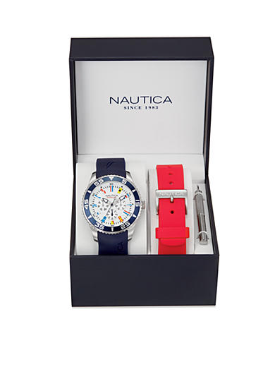 Nautica NST 07 Flag Multi Function Watch Box Set