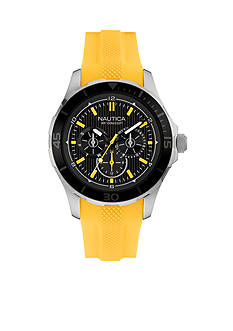 Nautica Men's NST 10 Yellow Watch