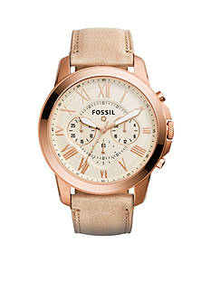 Fossil Men's Q Grant Chronograph Sand Leather Watch
