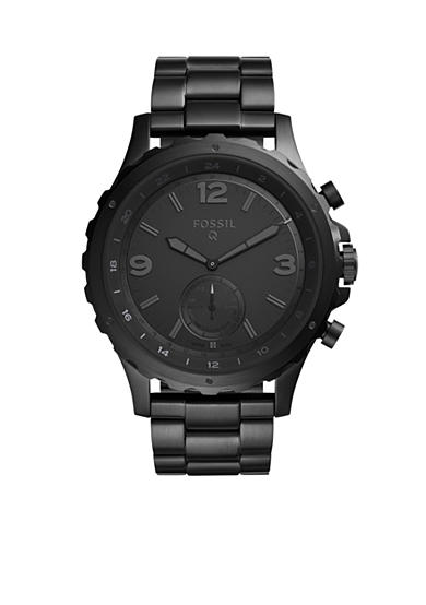 Fossil Q Men's Nate Black Stainless Steel Hybrid Smart Watch