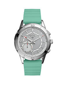 Fossil Q Modern Pursuit Mint Green Silicone Hybrid Smartwatch