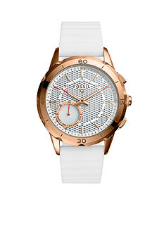 Fossil Q Connected Women's Modern Pursuit White Silicone Hybrid Smartwatch