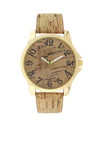 A Classic Time Watch Co. Women's Tan Cork Strap Watch