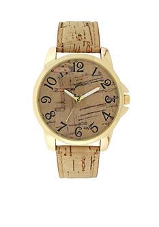 A Classic Time Watch Co. Women's Tan Cork Strap Watch