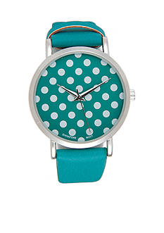 A Classic Time Watch Co. Women's Blue with White Dots Watch