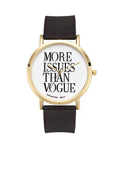 A Classic Time Watch Co. Women's More Issues Than Vogue Watch