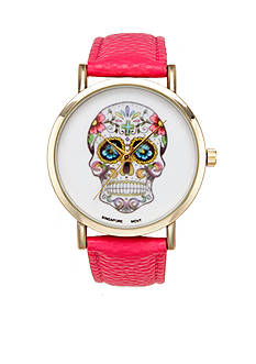 A Classic Time Watch Co. Women's Pink Skull Watch