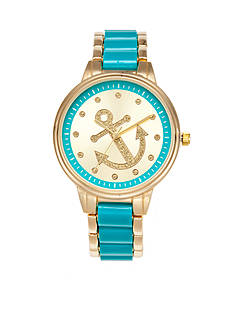 A Classic Time Watch Co. Women's Turquoise Anchor Watch