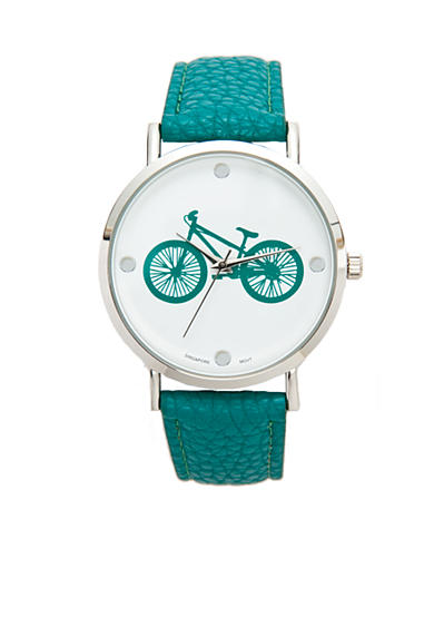 A Classic Time Watch Co. Women's Turquoise Bicycle Watch