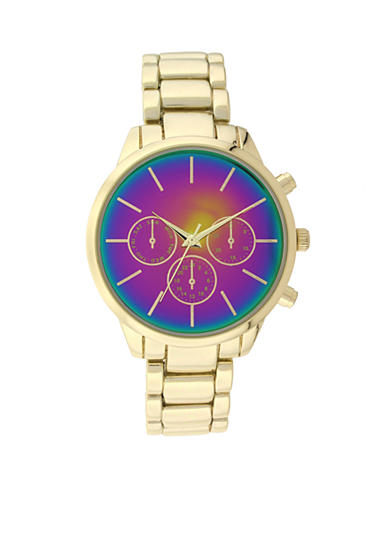 A Classic Time Watch Co. Women's Gold-Tone Multicolor Watch