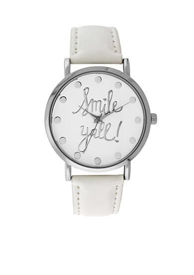 A Classic Time Watch Co. Women's White 'Smile Y'all' Watch