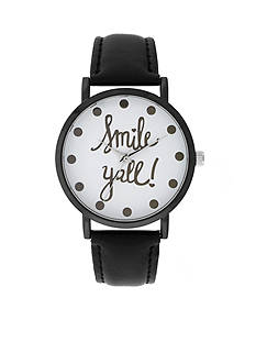 A Classic Time Watch Co. Women's Black 'Smile Y'all' Watch