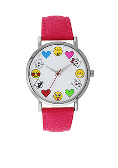 A Classic Time Watch Co. Women's Pink Emoji Watch
