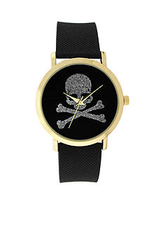 A Classic Time Watch Co. Women's Black Skull Bones Watch