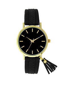 A Classic Time Watch Co. Women's Black Tassel Strap Watch