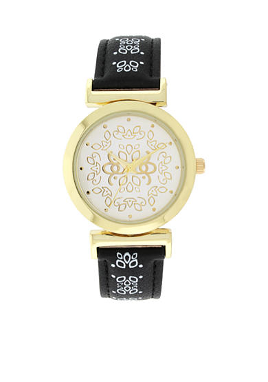 A Classic Time Watch Co. Printed Dial Reversible Strap Watch