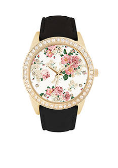 Jessica Carlyle Women's Embellish Floral Dial Watch