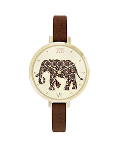 Jessica Carlyle Women's Brown Elephant Watch