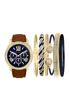 Jessica Carlyle Gold-Tone Watch and Bracelet Set