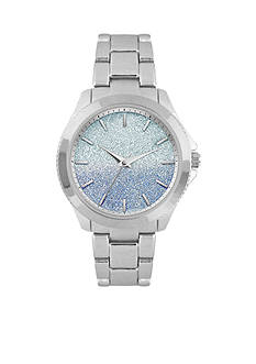 Jessica Carlyle Women's Silver-Tone Ombre Glitter Watch