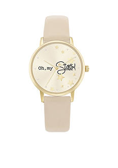 Jessica Carlyle Gold-Tone Oh My Stars Watch
