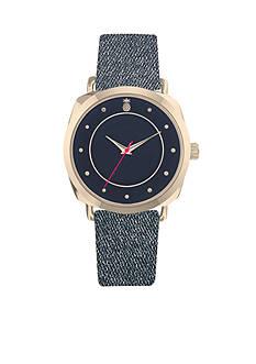 American Exchange Women's Pineapple Denim Strap Watch