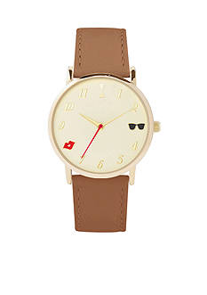 American Exchange Sun Lips Dial Watch