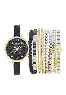 Jessica Carlyle Women's Arrow BOHO Watch & Bangle Set