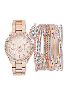 Jessica Carlyle Womens's Watch and Bangle Glitz Core Set