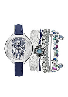 Jessica Carlyle Women's Dreamcatcher Watch and Bracelet Set