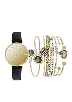 American Exchange Women's Watch and Bracelet Set