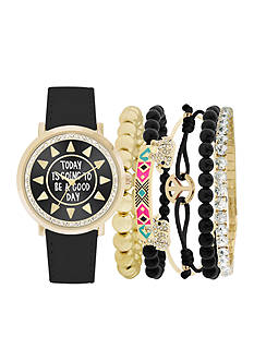 Jessica Carlyle Women's Today Is Going to Be a Good Day Watch & Bracelet Set