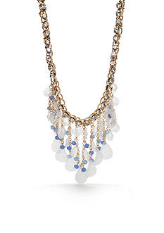 New Directions Gold-Tone White Meadow Statement Necklace