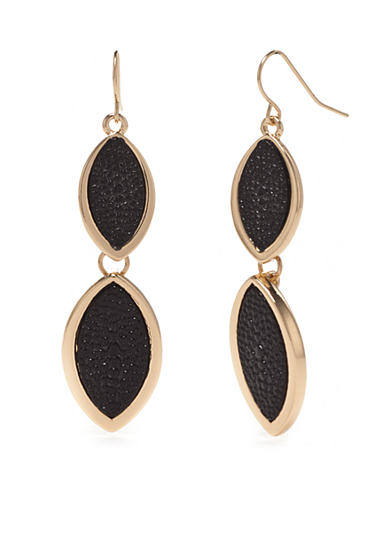 New Directions® Gold-Tone Stringray Double Drop Earrings