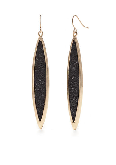 New Directions® Gold-Tone Stringray Long Drop Earrings