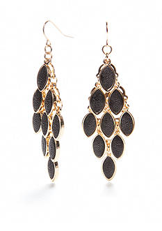 New Directions Gold-Tone Stingray Chandelier Earrings