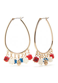 New Directions® Gold-Tone Americana Hoop Earrings